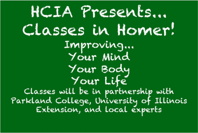 Classes Coming to Homer